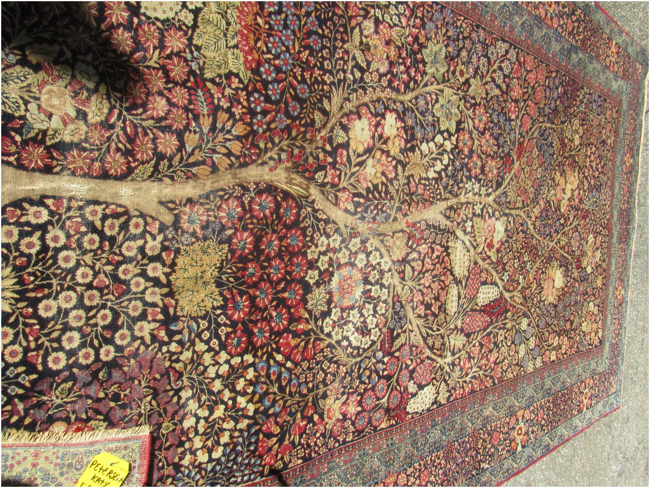 This rug originated in Persia.